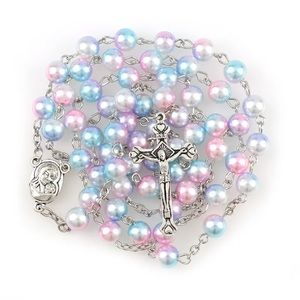 Jewelry - Holy rosary in purple and pink with 8mm beads
